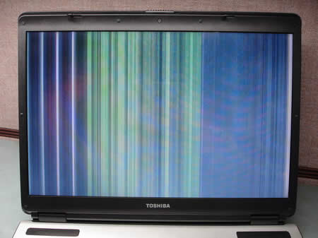 Defective screen, cable, or mother board.  - Simple troubleshooting of most common screen issues.