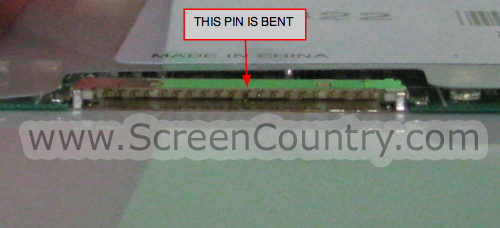 One of the pins is bent down. - 13.3-inch screens with 20-pin cable. Image distortion.