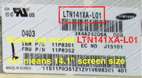 How to find your laptop screen model number?