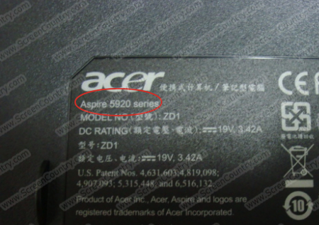 <h2>Acer</h2> - How to find your laptop model number.